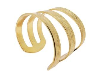 Wiz Jewelry Triple Cuff B0004G (Gold)