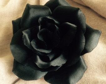 Black Rose hair clip