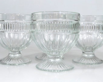 Four Glass Goblets