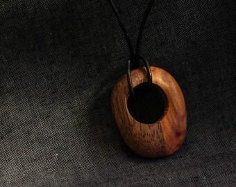 Handmade mahogany & purple plum necklace