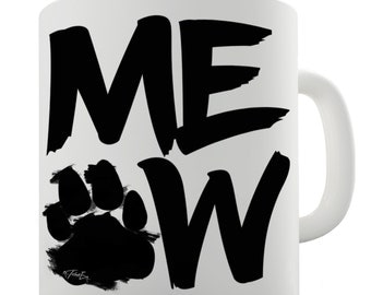 Meow Ceramic Novelty Mug