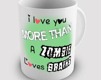 Love Zombie Brains Gift Ceramic Tea Mug