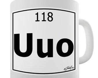 Periodic Table Of Elements Uuo Ununoctium Ceramic Novelty Mug