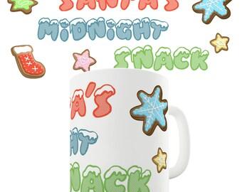 Santa Midnight Snack Ceramic Novelty Mug