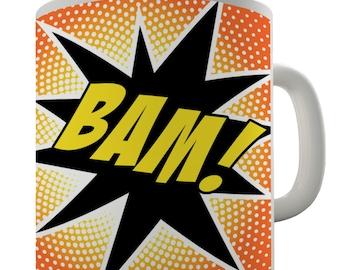 Comic Book Bam Ceramic Funny Mug