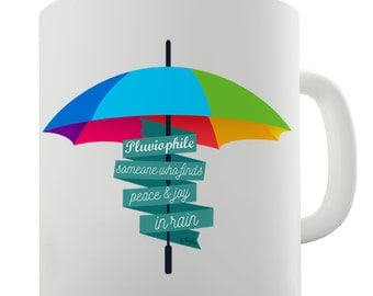 Pluviophile Definition Ceramic Funny Mug