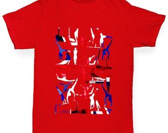 Boy's GB Artistic Gymnastics Collage T-Shirt
