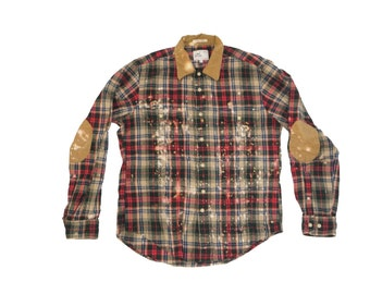 Medium Authentic Gant Flannel Bleached and Destructed