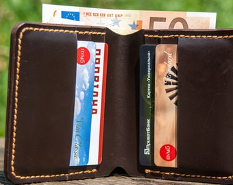Leather wallet, bifold