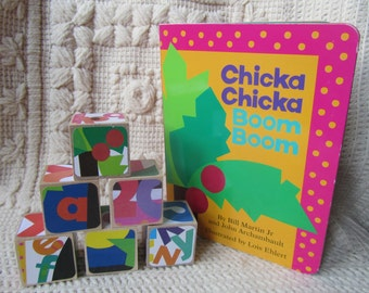 Chicka Chicka Boom Boom Gift Set! Includes Picture Book and Wooden Blocks