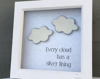 Every cloud has a silver lining.. clay clouds frame
