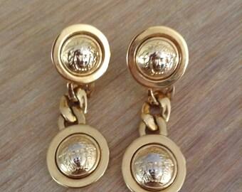 Gianni Versace Medusa Vintage Earring/earrings original
