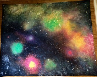Galaxy Tapestry - Hand-painted One of a Kind Galaxy Wall Art