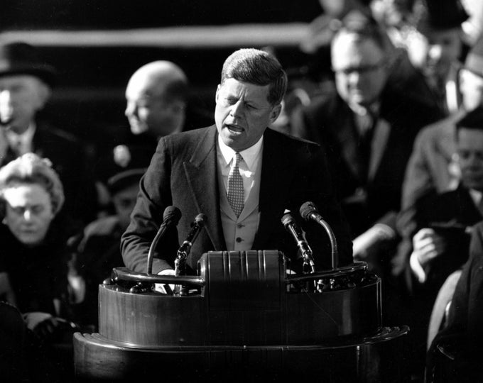 President John F. Kennedy Inauguration Speech on January 20, 1961 - 5X7, 8X10 or 11X14 Photo (AA-208)