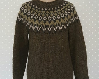 Knitted Icelandic wool sweater