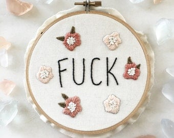 Snarky Embroidery Hoop/ Embroidery Art