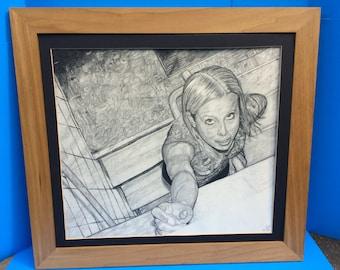"Pencil drawing ""Reach"""