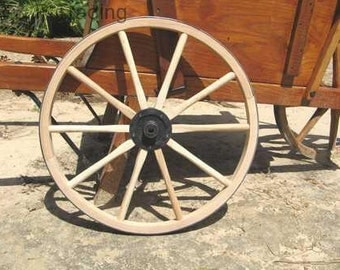 2 - 20 inch light duty metal hub wagon wheels.