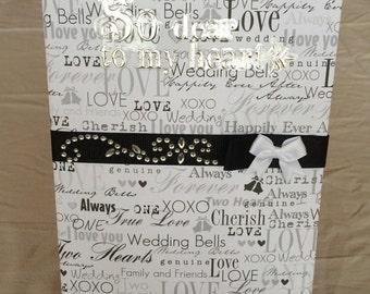 Wedding Journal/ Notebook