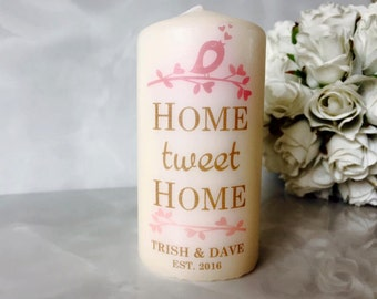 Personalised Home 'tweet' Home Candle Gift