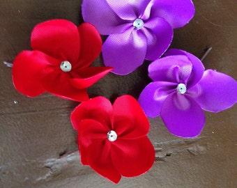 Flower Hair Pins/ Ribbon Sculptures