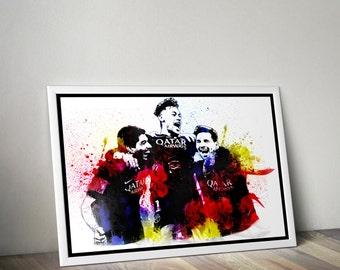 Messi, Suarez, Neymar, MSN, Barcelona A2/A3/A4 Poster