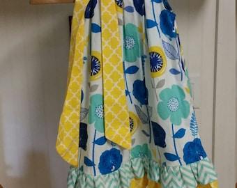 Double ruffle pillowcase dress