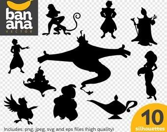 Aladdin silhouette wwwpixsharkcom images galleries for Aladdin and jasmine on carpet silhouette