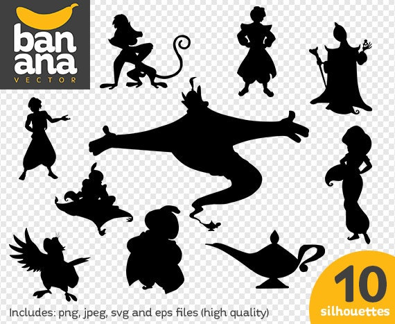 sale aladdin silhouettes png jpg svg eps files high