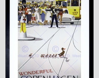 Travel Advert Copenhagen Denmark Vintage Poster Art Print FE2230PY
