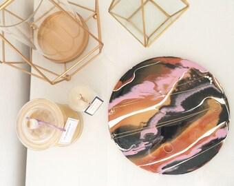 Resin Art Jewellery Tray || Copper Dust