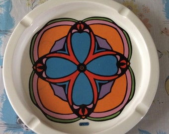 Vintage 70s Peter Max ashtray by Iroquois