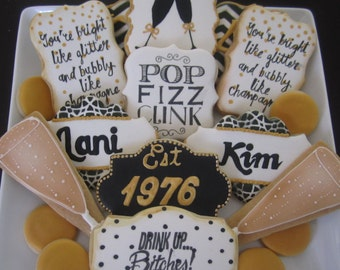 40th birthday milestone cookies