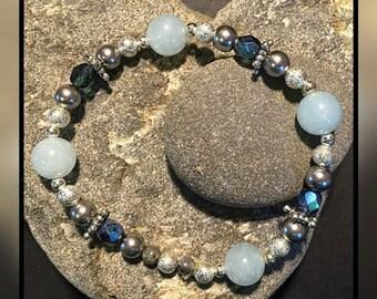 Sky Blue Stretch Bracelet