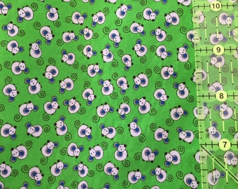 Cute Green Mouse fabric