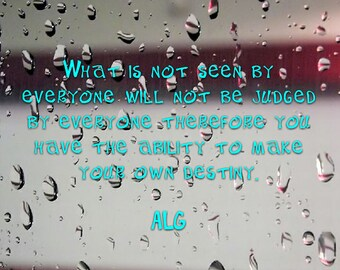 what is not seen life quote instant download