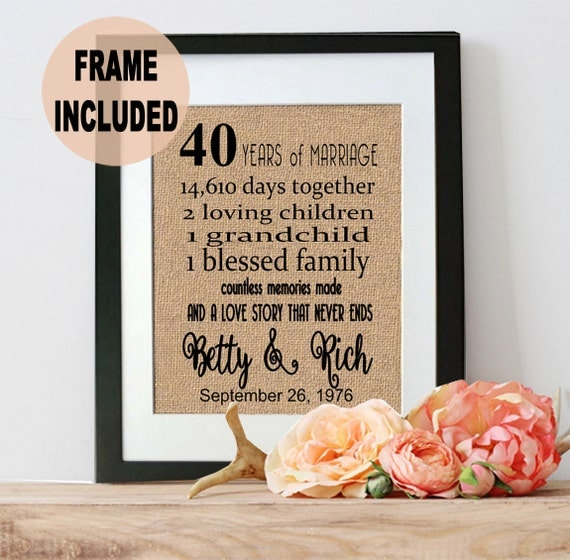 What Gift For 40th Wedding Anniversary: 40th Anniversary Gift 40th Wedding Anniversary Gift 40 Years