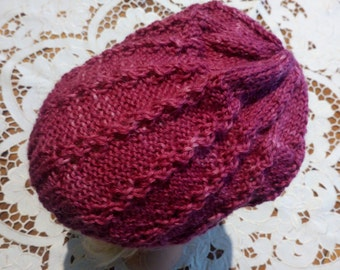Beautiful Tasmanian Alpaca is used for this lovely girls beenie 3. 5 years