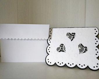 Black & White Love Card