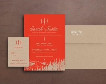 Mountain Wedding Invitation RSVP Card