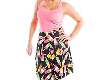 Ice Cream Print A-Line Skirt - 15-066