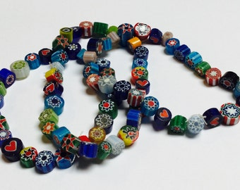 Glass Millefiori Beads - 80 Beads - #273
