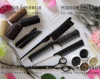 Braidless Weave With Micro Rings Hair Extension Kit with step by step instructions Free UK Post