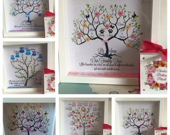 Family Tree Personalised Frame