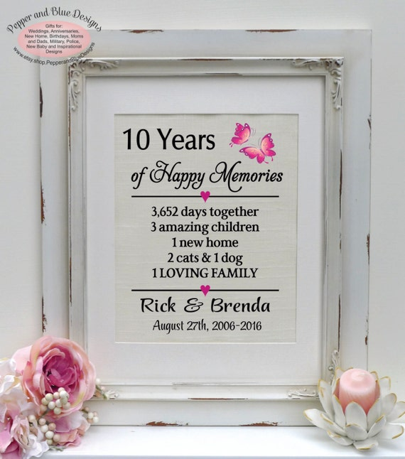 14th Wedding Anniversary Gift Ideas: 10th Anniversary Gift 10 Years 10 Year Anniversary Gift For