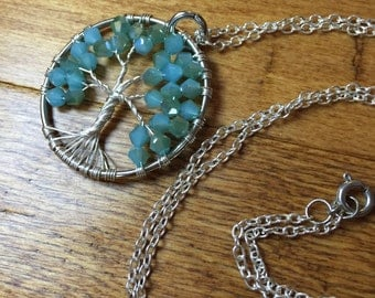 Tree of Life Necklace-Teal