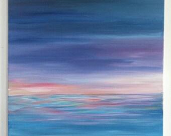 Landscape acrylic paint