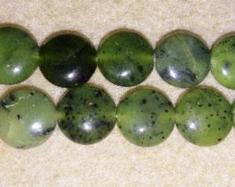 SALE! Jade coin beads green jade beads green coin beads focal beads green focal beads green stone beads 12mm coin beads