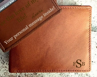 Leather wallet • mens personalized leather wallet • custom wallet • genuine leather wallet • monogram leather wallet • A.Saddle* 7751
