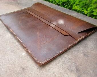 """Vintage distressed genuine leather macbook sleeve case, Leather Laptop Sleeve, Leather iPad Cover, Macbook Pouch, iPad Case, macbook 11"""" 13"""""""